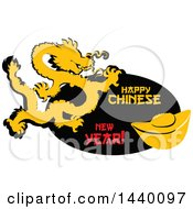 Happy Chinese New Year Design With A Dragon