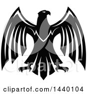 Clipart Of A Black And White Eagle Royalty Free Vector Illustration by Vector Tradition SM