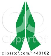 Clipart Of A Pair Of Green Prayer Or Namaste Hands Royalty Free Vector Illustration