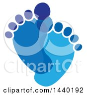 Clipart Of A Pair Of Blue Footprints Royalty Free Vector Illustration by ColorMagic