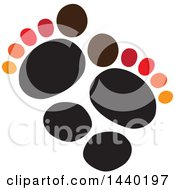 Clipart Of A Pair Of Footprints Royalty Free Vector Illustration by ColorMagic