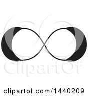 Clipart Of A Black And White Infinity Symbol Royalty Free Vector Illustration