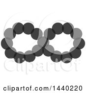 Clipart Of A Gray Infinity Symbol Royalty Free Vector Illustration