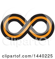 Clipart Of A Black And Orange Infinity Symbol Royalty Free Vector Illustration