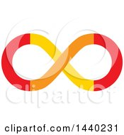 Clipart Of A Colorful Infinity Symbol Royalty Free Vector Illustration