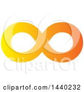 Clipart Of A Yellow And Orange Infinity Symbol Royalty Free Vector Illustration