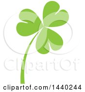 Clipart Of A Green St Patricks Day Shamrock Clover Leaf And Stalk Royalty Free Vector Illustration by ColorMagic