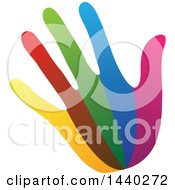 Clipart Of A Hand With Colorful Stripes Royalty Free Vector Illustration by ColorMagic