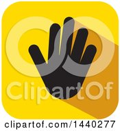 Clipart Of A Hand Print Icon Royalty Free Vector Illustration by ColorMagic