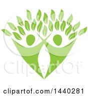 Clipart Of A Green Couple Forming The Trunk Of A Tree Royalty Free Vector Illustration by ColorMagic