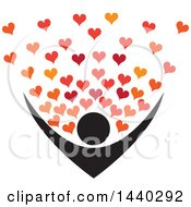 Poster, Art Print Of Nurturing Person With Love Hearts