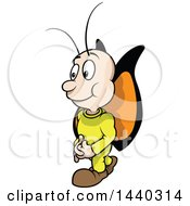Clipart Of A Cartoon Butterfly Royalty Free Vector Illustration