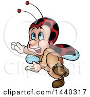 Clipart Of A Cartoon Ladybug Royalty Free Vector Illustration by dero