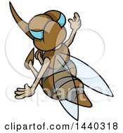 Clipart Of A Cartoon Mosquito Royalty Free Vector Illustration by dero