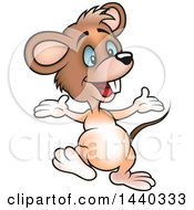 Clipart Of A Cartoon Mouse Royalty Free Vector Illustration