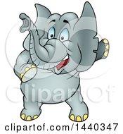 Cartoon Elephant Pointing
