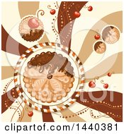 Swirl And Pie Background