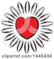 Poster, Art Print Of Love Heart Flower