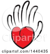 Clipart Of A Love Heart As The Palm Of A Hand Royalty Free Vector Illustration by ColorMagic