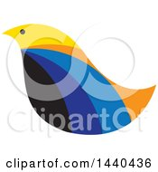 Clipart Of A Colorful Bird In Profile Royalty Free Vector Illustration by ColorMagic