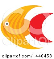 Clipart Of A Marine Fish Royalty Free Vector Illustration