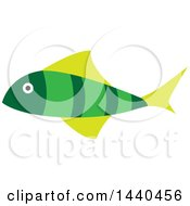 Clipart Of A Green Marine Fish Royalty Free Vector Illustration