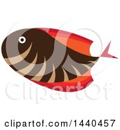 Clipart Of A Marine Fish Royalty Free Vector Illustration by ColorMagic