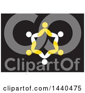 Clipart Of A Teamwork Unity Group Of People Royalty Free Vector Illustration