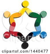 Teamwork Unity Circle Of Colorful People