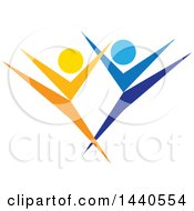 Clipart Of A Blue And Orange Couple Dancing Royalty Free Vector Illustration