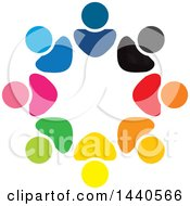 Clipart Of A Teamwork Unity Circle Of Colorful People Royalty Free Vector Illustration by ColorMagic #COLLC1440566-0187