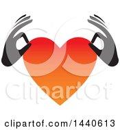 Poster, Art Print Of Black Hands Holding A Love Heart