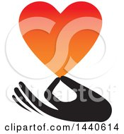 Clipart Of A Hand Holding A Love Heart Royalty Free Vector Illustration