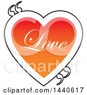 Poster, Art Print Of Love Heart With Text And Quotation Marks