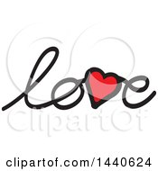 Poster, Art Print Of Heart In The Word Love