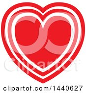 Clipart Of A Love Heart Royalty Free Vector Illustration