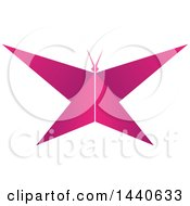 Clipart Of A Pink Butterfly Royalty Free Vector Illustration by ColorMagic