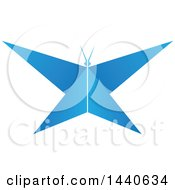 Clipart Of A Blue Butterfly Royalty Free Vector Illustration by ColorMagic