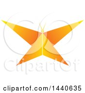 Clipart Of A Gradient Orange Butterfly Royalty Free Vector Illustration by ColorMagic