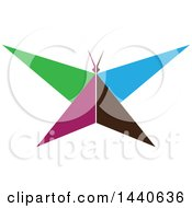 Clipart Of A Colorful Butterfly Royalty Free Vector Illustration by ColorMagic