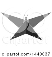 Clipart Of A Grayscale Butterfly Royalty Free Vector Illustration by ColorMagic