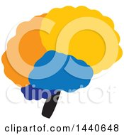 Clipart Of A Brain Royalty Free Vector Illustration by ColorMagic
