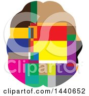 Clipart Of A Colorful Geometric Brain Royalty Free Vector Illustration by ColorMagic
