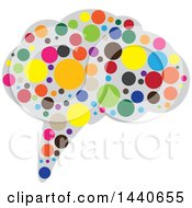 Clipart Of A Brain With Colorful Dots Royalty Free Vector Illustration by ColorMagic