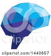 Clipart Of A Geometric Brain Royalty Free Vector Illustration by ColorMagic