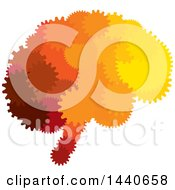 Clipart Of A Brain Of Gears Royalty Free Vector Illustration by ColorMagic