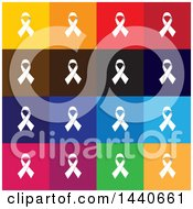 Clipart Of Awareness Ribbon Icons Royalty Free Vector Illustration