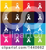 Clipart Of Awareness Ribbon Icons Royalty Free Vector Illustration by ColorMagic