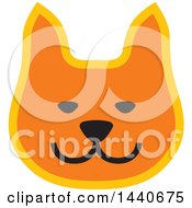 Clipart Of A Ginger Cat Face Royalty Free Vector Illustration