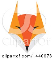 Clipart Of A Fox Face Royalty Free Vector Illustration by ColorMagic